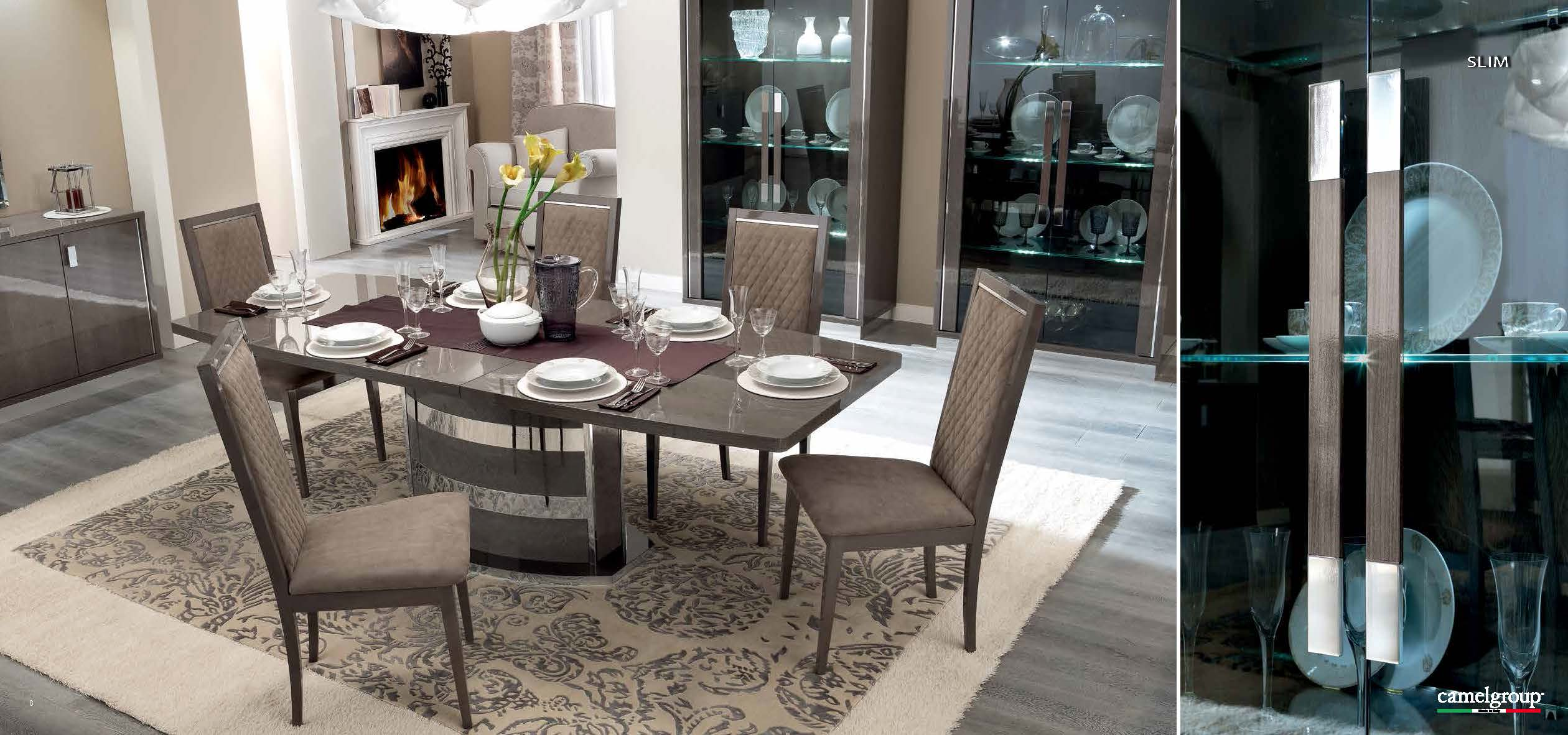 Platinum Slim Dining. Dining Room Furniture Modern Formal ...